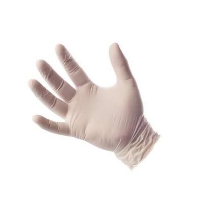 guante de látex con polvo